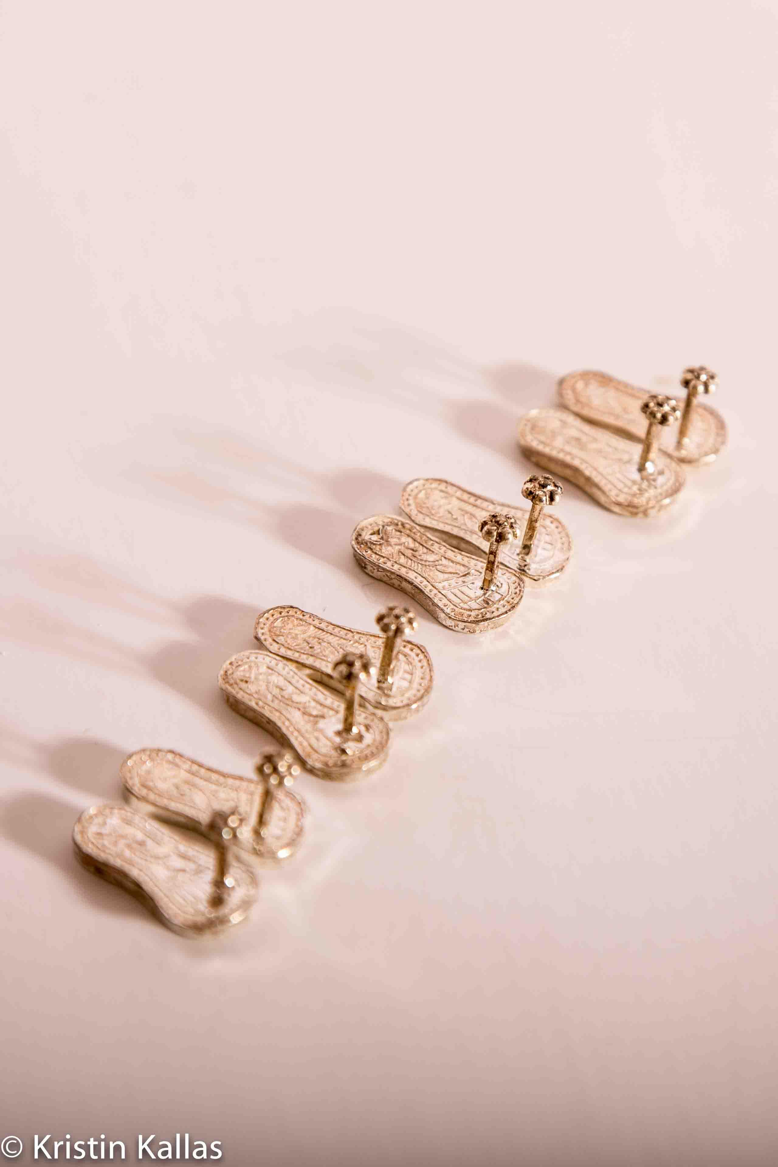 Schuhe für Bildgestalten aus Silber